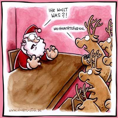 Nicht-Weihnachten Comic zu Weihnachtsferien